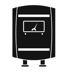 Gas boiler icon simple style vector