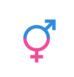 Gender equal sign icon men and women equal vector
