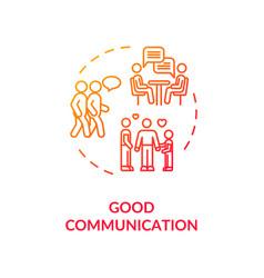 Good communication concept icon vector