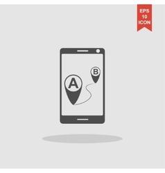 gps smartphoner icon vector image