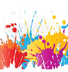 Grunge paint splat background vector