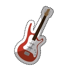 Guitar electric isolated icon vector