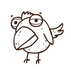 Hand Drawn Bird Cartoon vector image