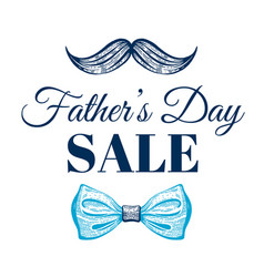 Happy father s day sale promotion poster cute vector