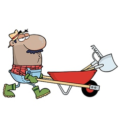 Hispanic Male Landscaper vector image