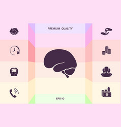 human brain icon graphic elements for your vector image