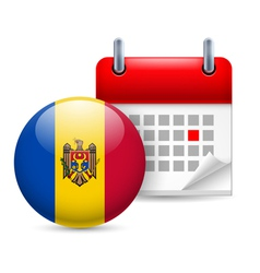 Icon of National Day in Moldova vector
