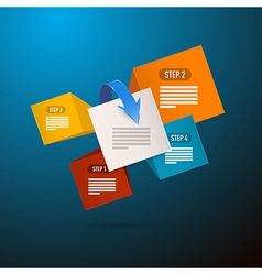 Infographics Blue Background With Five Elements vector image