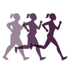 jogging weight loss woman vector image