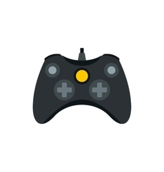 Joystick for playing games icon flat style vector image