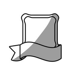 label emblem ribbon style vector image