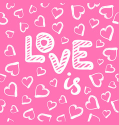love seamless pattern with hearts happy vector image