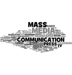 Mass-media word cloud concept vector