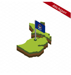 Michigan isometric map and flag vector