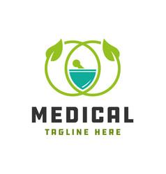 Natural health modern logo vector