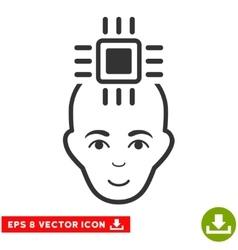 Neural Computer Interface EPS Icon vector