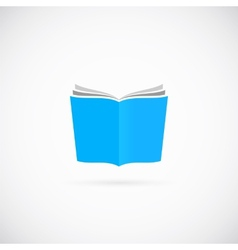 Open Book Symbol Icon or Logo Template vector