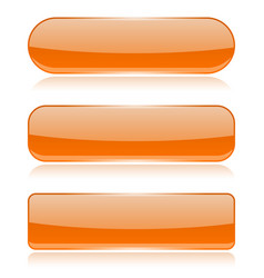 Orange glass buttons vector