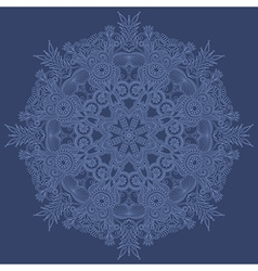 ornate snowflake vector image