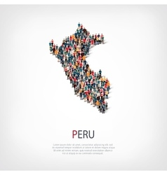 people map country Peru vector image