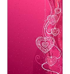 Pink Valentines background vector