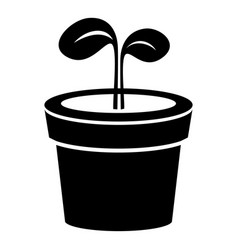 plant icon simple black style vector image