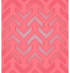 Red corner pattern vector