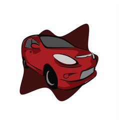 red sport city car vector image
