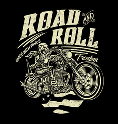 Road and roll freedom vector