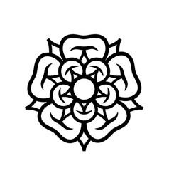 Rose queen of flowers emblem of love beauty vector