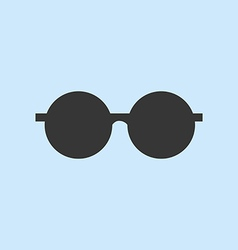 Round Sun Glasses vector image