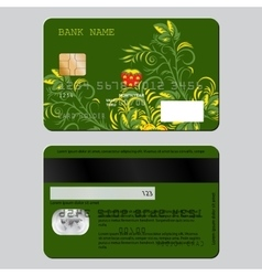 Sample design template credit card from two sides vector image