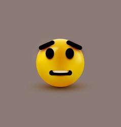 Scared emoji isolated on white background shocked vector