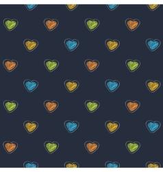 Scribble heart dark vector