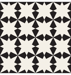 Seamless Black White Geometric Pattern vector