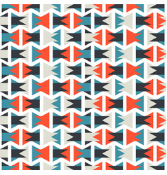 seamless colorful abstract orange and blue pattern vector image