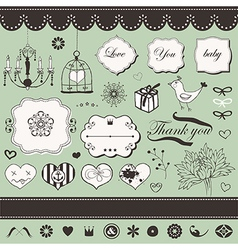 Set of hand drawn elements vector image