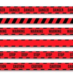 Set warning tapes vector