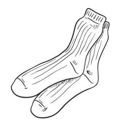 sketch - casual men socks vector image