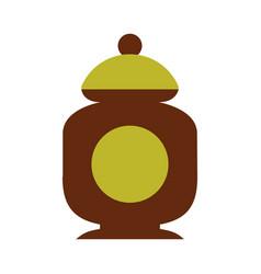 Sugar pot isolated icon vector