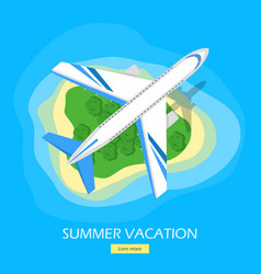 Summer vacation flat style web banner vector