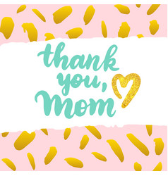 thank you mom postcard design vector image