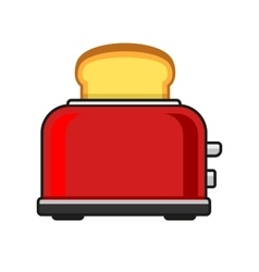 Toasts Flying Out of Red Toaster vector image