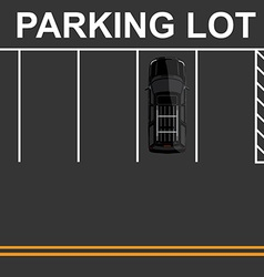 Top view parking lot vector image