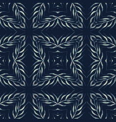 traditional indigo blue seamless pattern vector image