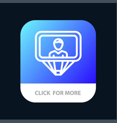 User profile id login mobile app button android vector