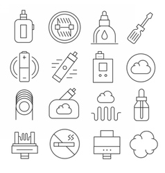 vaping icons set isolated trend vector image