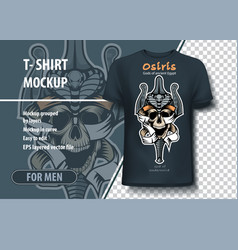 Vintage skull template in clothing the vector