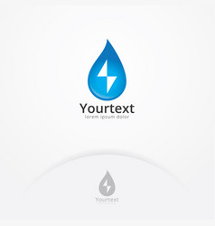 water energy logo design vector image