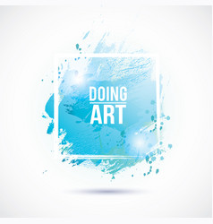 Watercolor-blue-doing-art vector